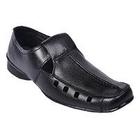 Knoos Men Black Leather Sandals