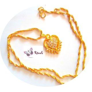 Beautiful Cz Diamonds Pendant With Chain
