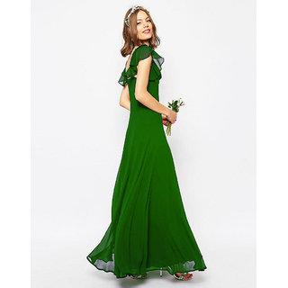 Xniva Womens Maxi Green Dress
