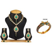 The Pari Multi Alloy Gold Plated Jewellery Combo For Women