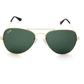 Elligator Green Uv Protection Aviator Men Sunglasses