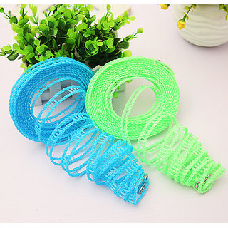Ezzideals Nonslip Flexible Windproof Clothesline 5m Hanging Rope- pack of 2