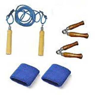 SPIRO Hand Grippers + Skipping Rope + Wrist Bands