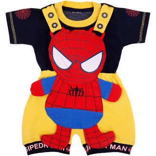 YashasviS Spiderman Print Apparel Combo