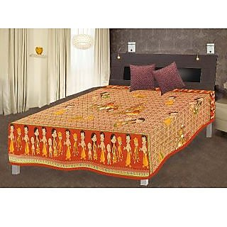 Jaipuri Single Cotton Bed Sheet Bed Spread SRB2016