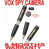 Vox Spy Pen Video Camera 4 Gb Inbuilt Memory & Use As A Pen Drive Data Cam