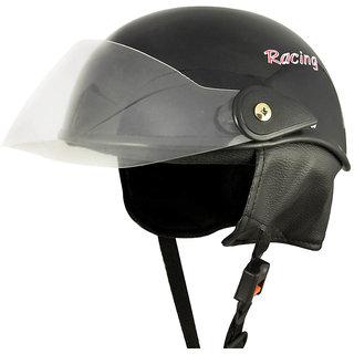 Racing Master (Glossy Black) Open Face Helmet