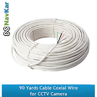 90 Yards CCTV Camera Cable Coxial Wire (Pure Copper Wire)