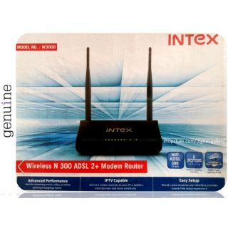 Intex 300 Mbps W300D Wireless ADSL 2+ Modem Router WiFi