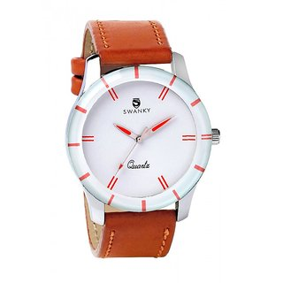 Swanky Plain Brown watch for Boys  Mens