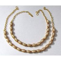 Golden White Pearl Anklet