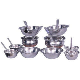 Prince Bridal Serving Set of 8 Pcs with 2 Copper Bottom Handi