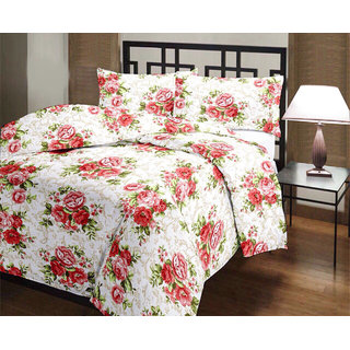 Floral Print Reversible Poly Cotton AC Comfort/Blanket/Quilt (Single Bed)