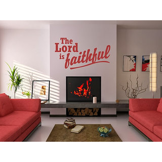 DeStudio The Lord Is Faithful TINY Size Wall Decals  Stickers  (45cms x 60cms)