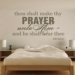 DeStudio Thou Shalt Make Thy Prayer Small Size Wall Decals  Stickers  (45cms x 51cms)