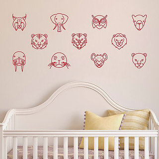 DeStudio Cute Silhouette Wall Sticker Small Size Wall Decals  Stickers  (45cms x 51cms)