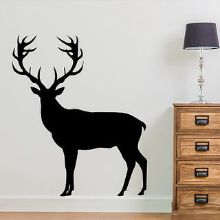DeStudio Deer Silhouette Stag Wall Sticker TINY Size Wall Decals  Stickers  (45cms x 60cms)