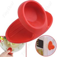 2 Pcs SET Silicone Magnetic Heat Insulation Finger Guard Protection