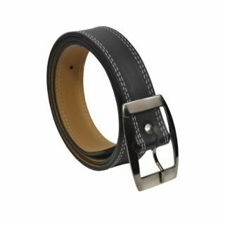 Night out sale black leatherite belt for men