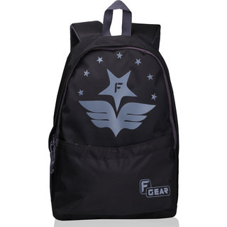 F Gear Saviour 19 Ltrs Printed backpack(Black Grey)