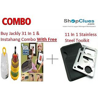 Buy Jackly 31 In 1 Screwdriver Instahang With Free 11 In 1 Stainless Steel Toolkit - CM31I11NS