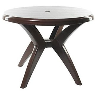 cello round plastic dining table available at shopclues