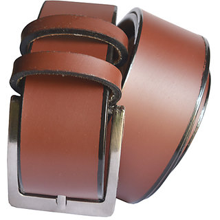 WHOLESOMEDEAL mens brown Leatherite needle pin point buckle belt f5