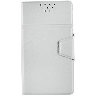 Molife Flip Cover for Karbonn Titanium S1 Plus Light Grey available at ShopClues for Rs.239