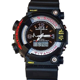 S2S Blue in Black Sport Digital Watch - For Boys, Girls