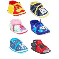 Brats N Angels Multicolour Baby Shoes- Pack of 6