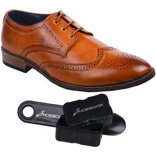 Shoebook Mens Tan Brogue Shoes