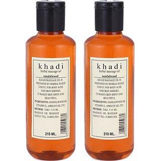 Khadi Sandalwood Massage Oil - Twin Pack (420 ml)