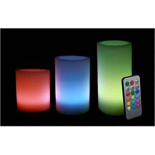 Aero Premium Colored LED Candles With Remote Set Of 3