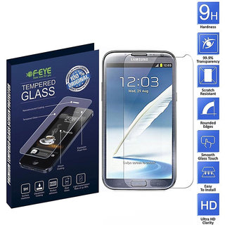 FEYE Samsung Galaxy Note 2 Tempered Glass, Ultra Clear Screen Protectors, 2.5D Round Edge - 0.33mm Thickness 9H Hardness, And Easy To Install In Your Phone (Samsung Galaxy Note 2)