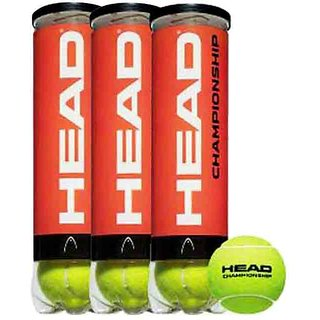 Head HEAD Championship (Pack of 12 Balls per can) Tennis Ball