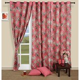 Elements Pink Of Flowers Curtain