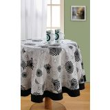 Elements Black N White Floral Swirls Table Cover