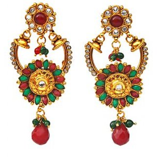 Maayra Red Green Bollywood Ethnic Wedding Festival Danglers