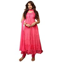 Pink Brasso Net Designer Dress Material