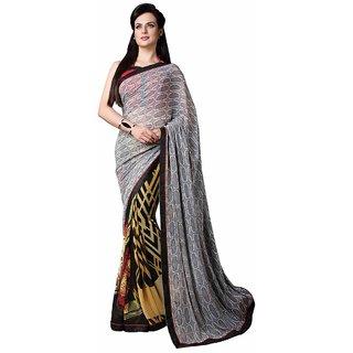 Vibhaa Multicolor Georgette Printed Saree