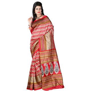 Vibhaa Multicolor Art Silk Printed Saree