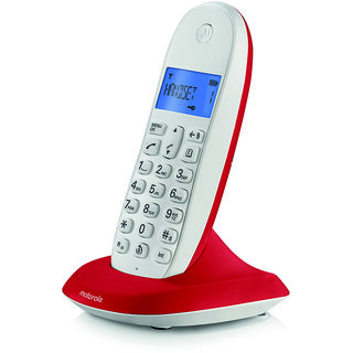 MOTOROLA CORDLESS TELEPHONE C 1001 LBI CHERY RED