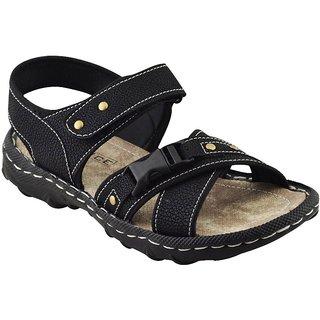 Elvace Black Bukkal sandal Men Shoes-4011