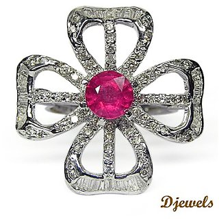 Djewels Ruby Diamond Cocktail Ring