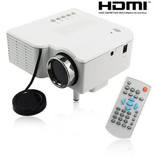 UC28+ LED Mini Portable pocket video Projector-Home Theater with HDMI/VGA-White