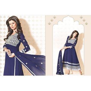 Bollywood Actress Sushmita Sen Designer Party Wear Semi Stitched Anarkali 11007