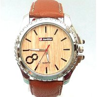 Lotto Analog Brown Leather Mens Watch