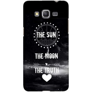 G.store Printed Back Covers for Samsung Galaxy Grand Prime Black