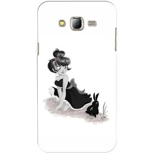 G.store Printed Back Covers for Samsung Galaxy J7 White