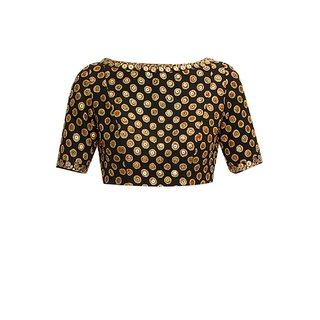 Fabboom New Latest Black Colour Designer Blouse
